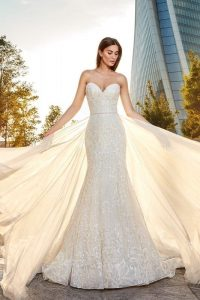 Wedding dress by Eddy K will be in the trunk show