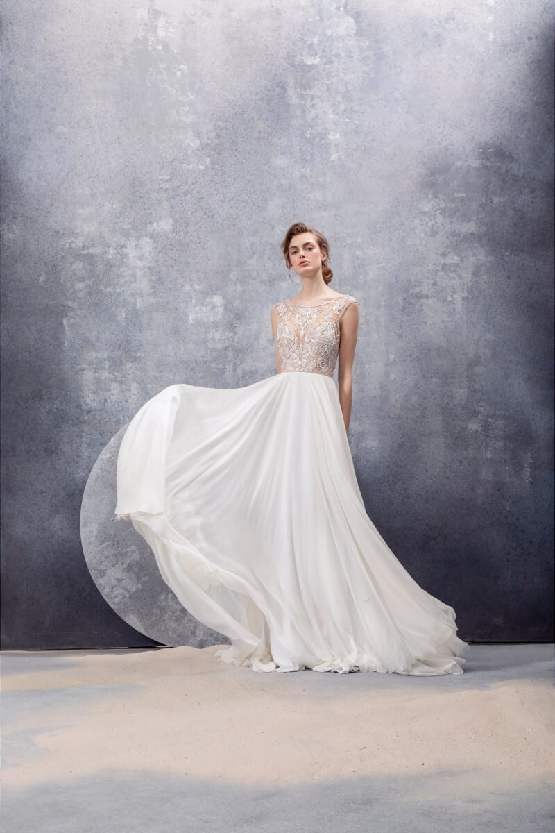wedding dress by Hayley Paige