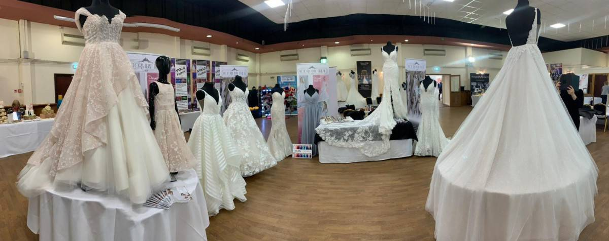 Victoria elaine bridal at kent wedding fair