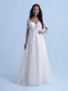 wedding dress with sleeves, disney dress